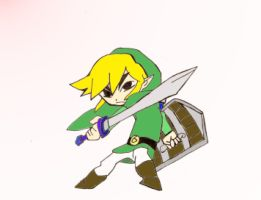 Epic Toon Link Colored by beegee12