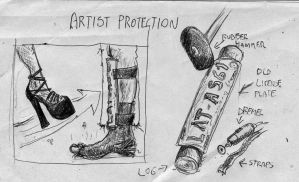 Failed Inventions: Artist Potection by SteampunkGorgon