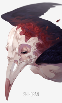 Carnation x Crow by shihoran