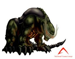 Hell Hound Concept Colored by landau