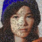 Hat Girl photo mosaic by Mosaikify