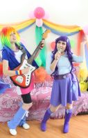 Rarity _ Rainbow Dash _ cosplay _ Equestria Girls by NeeHime