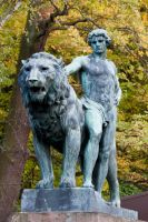 Statues: Man with Lion by Jantiff-Stocks