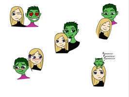 Beast Boy Terra Headshot Dump by Madness-Made-Fresh