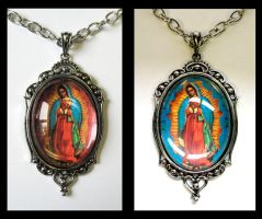 Lady of Guadalupe Necklace by Horribell-Originals