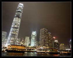 HK at Night (Hong Kong, China) by drewhoshkiw