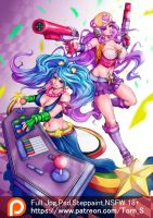 Sona And Miss Fortune arcade full color by TORN-S