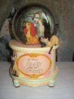 Lady and the Tramp Snow Globe by BeautifulHusky