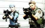 BSAA Chris Redfield and Jill Valentine by LordHayabusa357