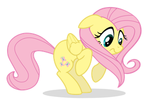 Frightened Fluttershy by xn-d