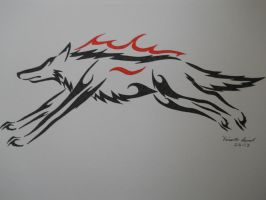 Running Wolf Tribal by ArchangelVampire