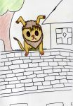 Dog on a Wall by mudkippi