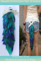 Aquatic Colored Acrylic Yarn Tail SOLD! by Xecax