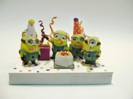 claydoll : minions ( despicable me movie) by lovely301090