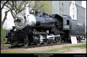 Soo 2-8-0 440 by hunter1828