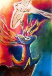 Fairy Aura:  Xerneas and Togekiss by HarlequinWaffles