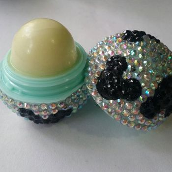 Blinged out Mickey Mouse Eos Lip Balm by redrosenava