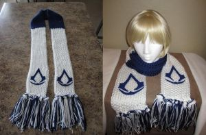 Blue Assassins Creed Scarf by samanthawagner