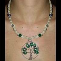 Wire Tree Life Hemp Necklace by Psy-Sub
