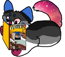 me reading warriors by DieselPaws