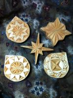 Chip carved ornaments by Uroscion