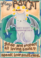 BatCat's Well Wishes ACEO ATC by shidonii