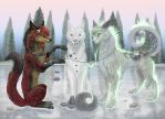 The Snow Wolf by DespondenceX-X