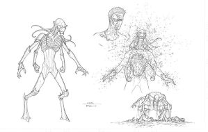 Concept art 5 - alien design 3 by RyanBodenheim