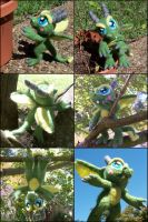 Posable Needle Felted Dragon Plush by SnowFox102