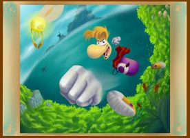 Rayman Origins fan art by Tzelly-El