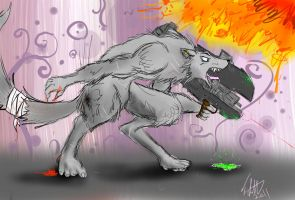 WereWolf with Spartan Laser by fabman132