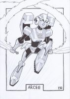 AA13 Sketch - Animated Arcee by Kingoji