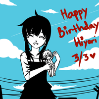 Happy bday Hiyohiyo by hiyopu