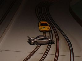 Impending Wreck out of the Chicane by IndyHorizon