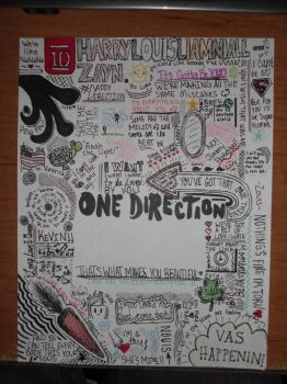 ONE DIRECTION PAPER by ZANEkun