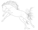 Free horse lineart by BH-Adoptables