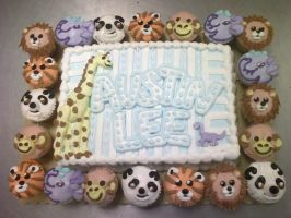 Animal Baby shower cake by TheForest