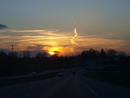 The pretty sunset, on a drive by kshelton2011
