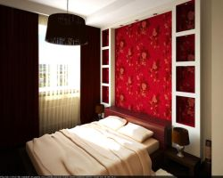 Flat. Red bedroom 1 by HorheSoloma