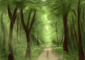 Forest speedpainting by ThemeFinland