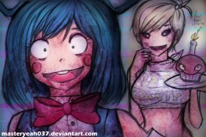 Toy Bonnie and Toy Chica - FNAF by Masteryeah037