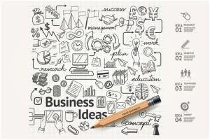 Business Idea Doodles Icons Set. by webdesigngeek