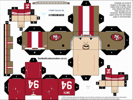 Justin Smith 49ers Cubee by etchings13