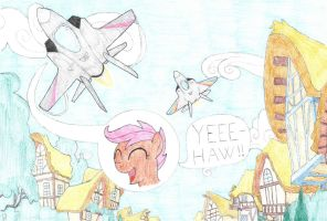 Scootaloo new wings by mzx-90