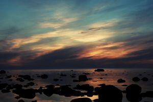 another sunset by Baikal