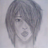 Realistic drawing of my character Xion by Okami-shin