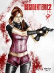 Claire Redfield (colored) by irenei