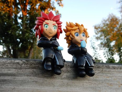 Axel and Roxas by Snowifer