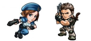 The Main RE couple from 1996:Chris-Jill Chibi Ver. by ChrisNext