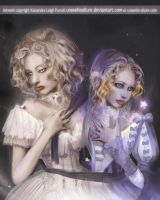 Twins: Alabaster + Afterglow. by UnseelieAllure